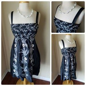 Gretchen Scott Designs Black Sun Dress & Necklace